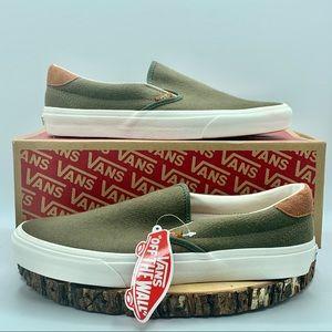 Vans Mens Slip On 59 Flannel/Dusty Olive Sz 10.5